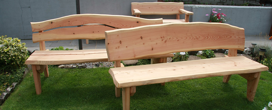 Buy rustic garden furniture hand made in West Wales with